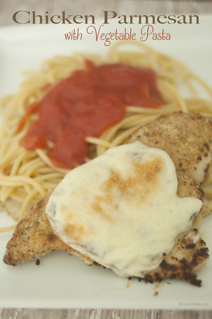 Chicken Parmesan with Vegetable Pasta
