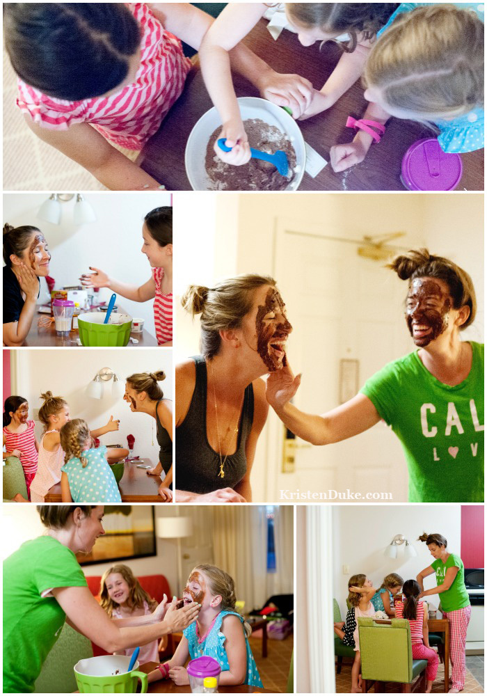 Chocolate Face Mask//Mother and Daughter Outing ideas: chocolate mask and hotel with friends www.KristenDuke.com