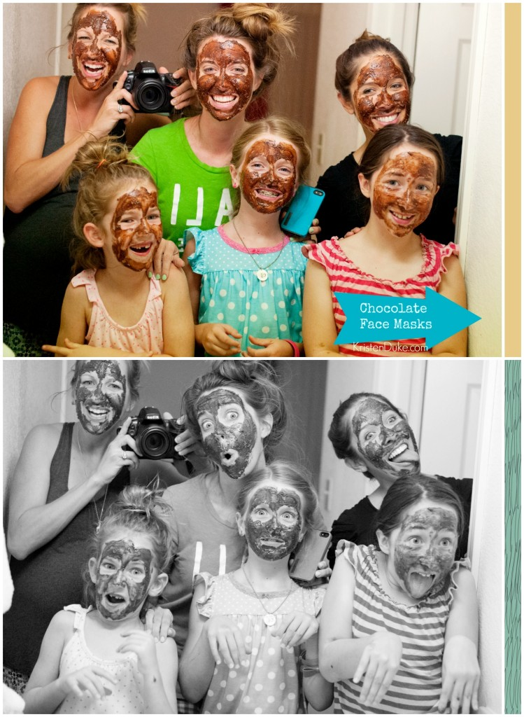 Mother and Daughter Outing ideas: chocolate mask and hotel with friends www.KristenDuke.com