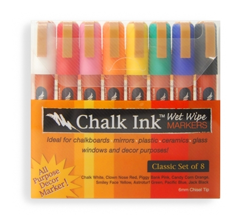 chalk ink wet wipe markers