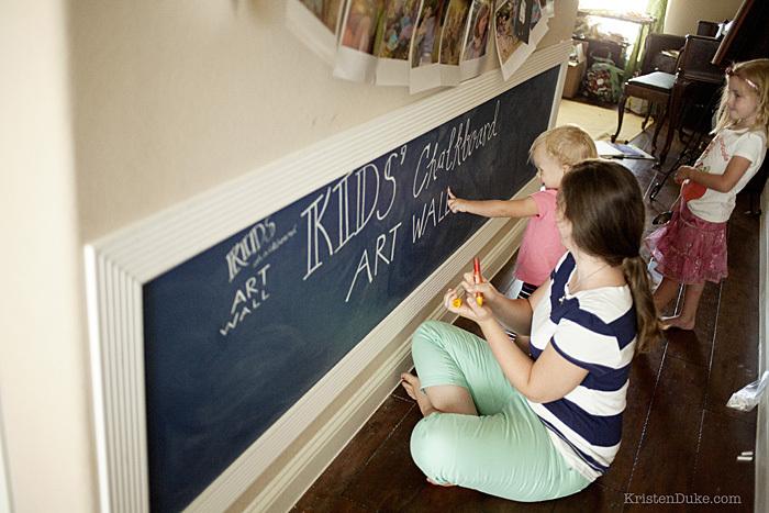 chalkboard art wall