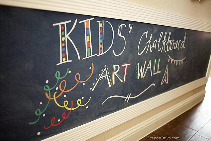chalkboard wall on textured wall