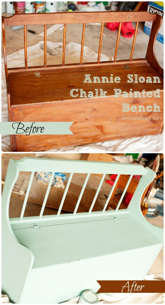 Annie Sloan Chalk Painted Bench