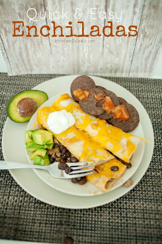 Beef Enchiladas with black beans