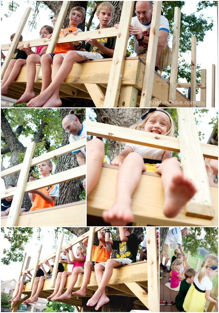 Railings on the Treehouse