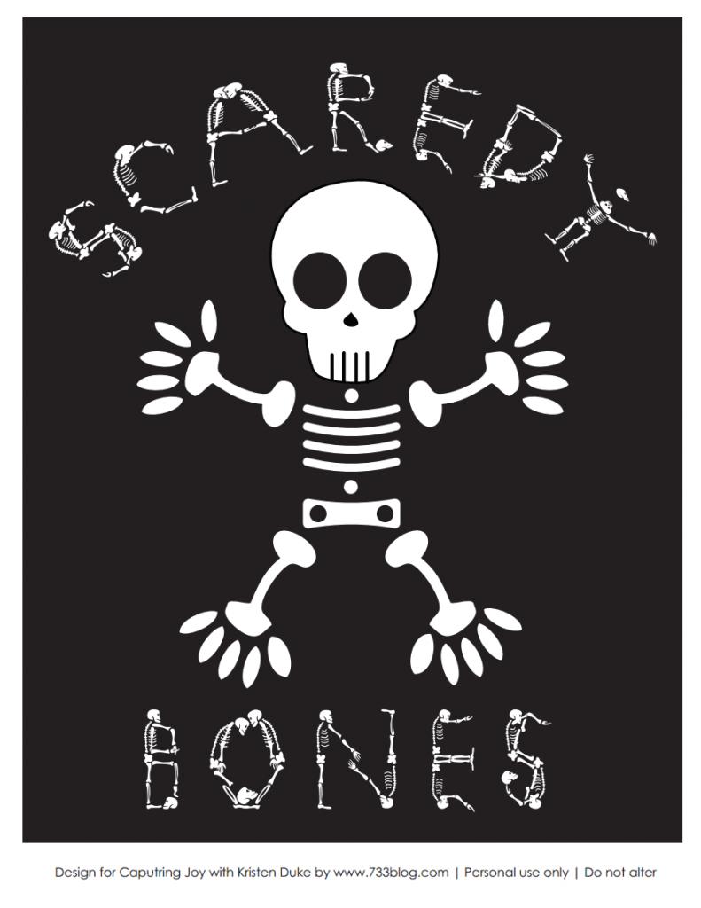 Scaredy Bones Black