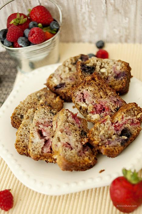 Strawberry Blueberry Raspberry Bread