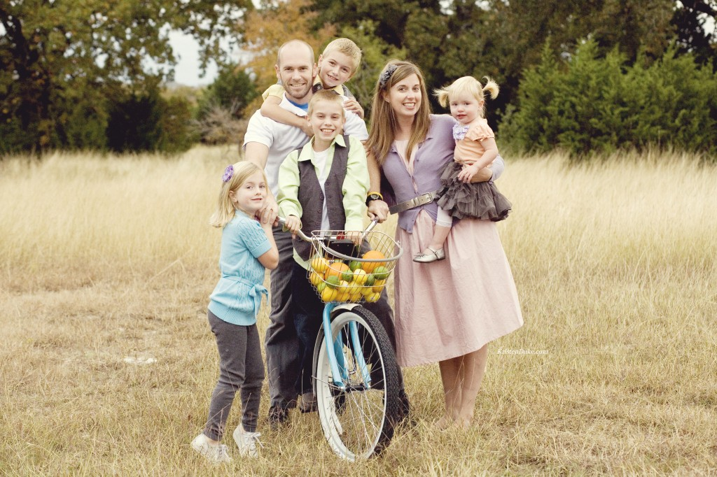 family pictures on a bike