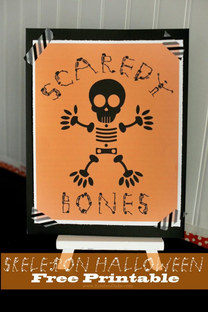 skeleton halloween free printable