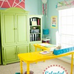 Colorful Home Office Reveal