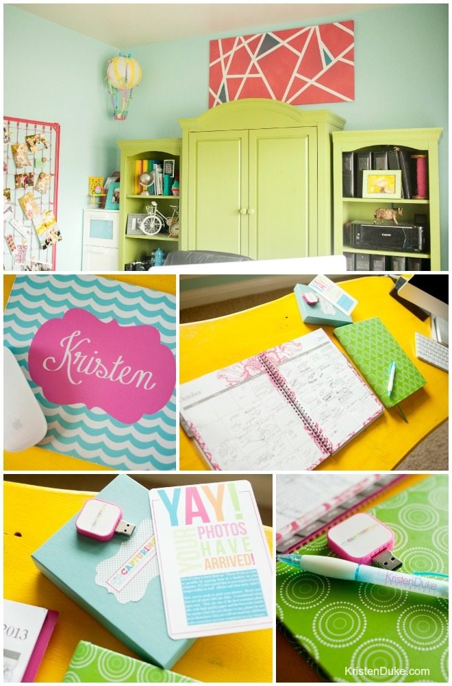 Colorful Home Office colorful home office reveal
