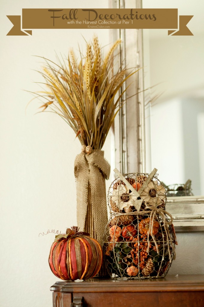 Fall Decorations at Pier 1 Harvest Collection