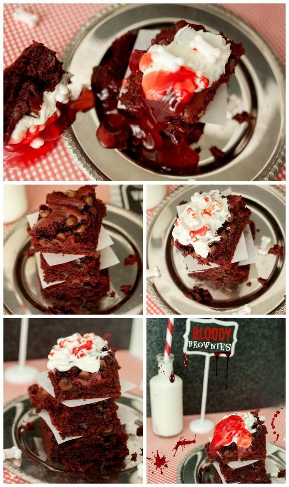 Halloween Bloody Brownies