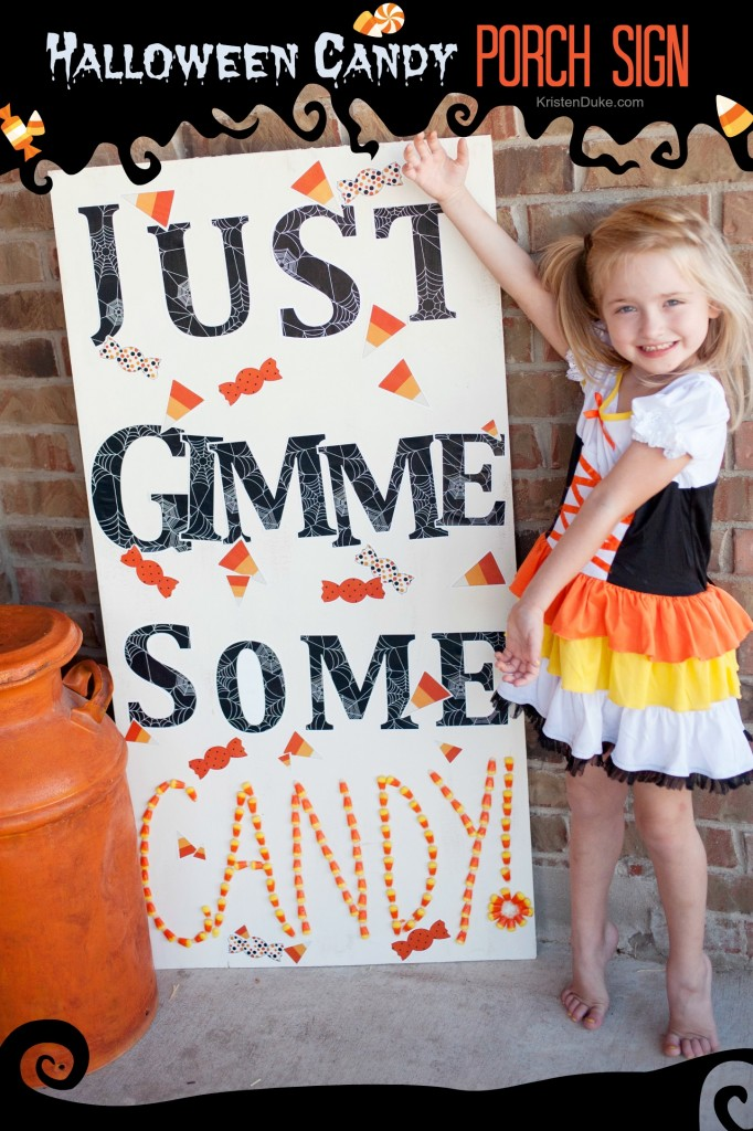 Halloween Candy Porch Sign