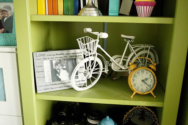 world market clock and bike