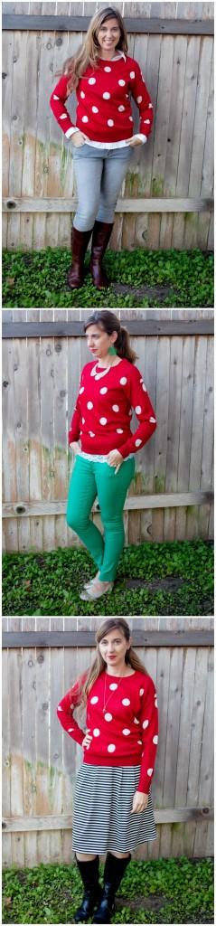 1 Sweater 3 ways