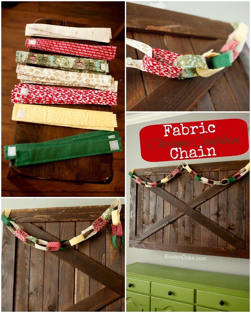Fabric Christmas Chain