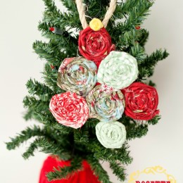 Rosette Christmas Tree Ornament
