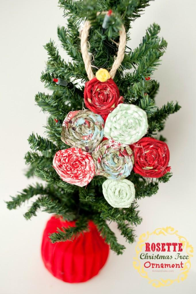 Rosette Christmas Tree Ornament