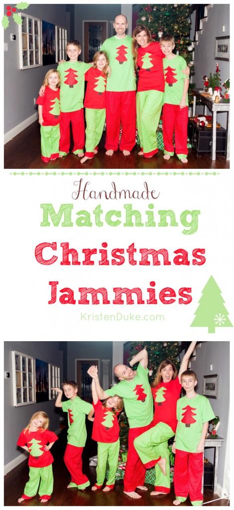 Handmade Matching Christmas Pajamas