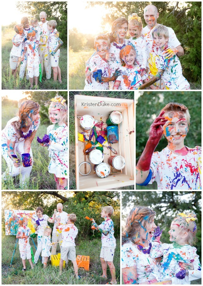 Paint Fight collage