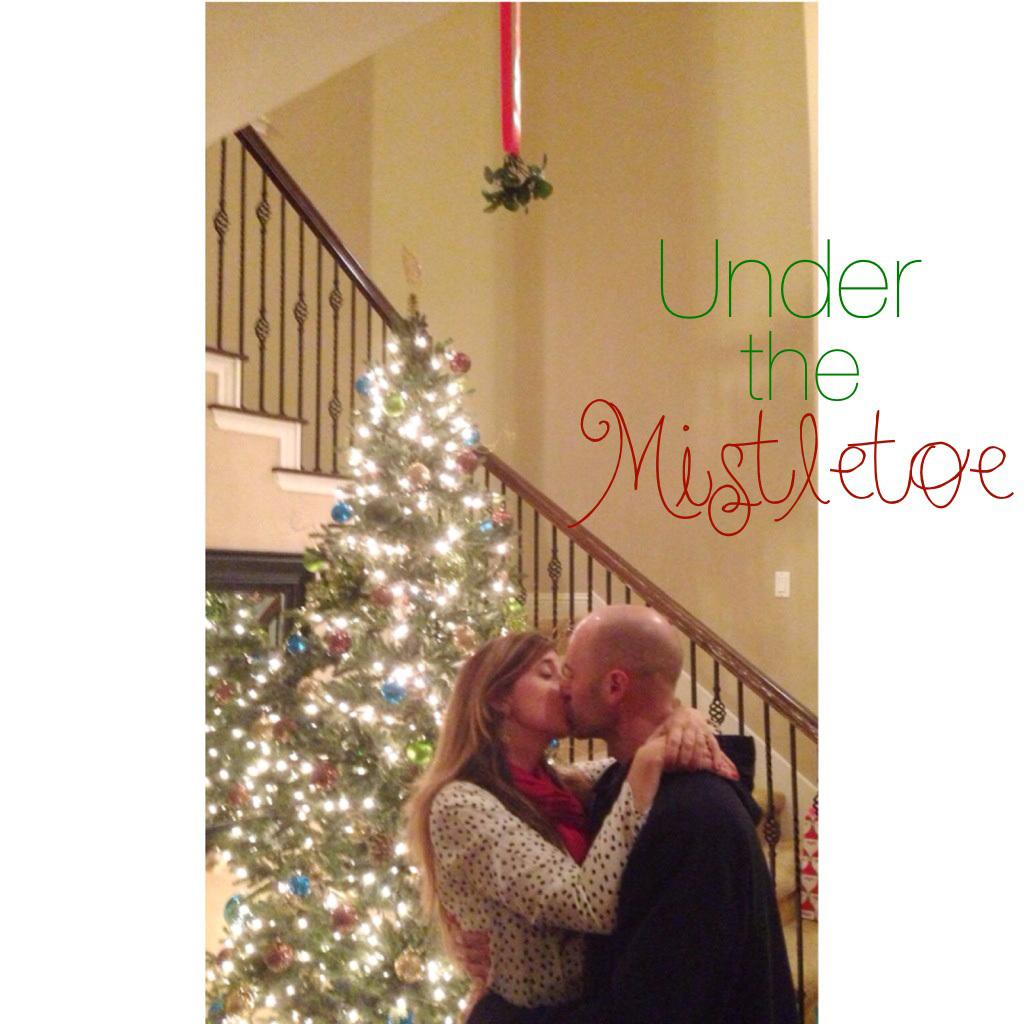Under the misteltoe
