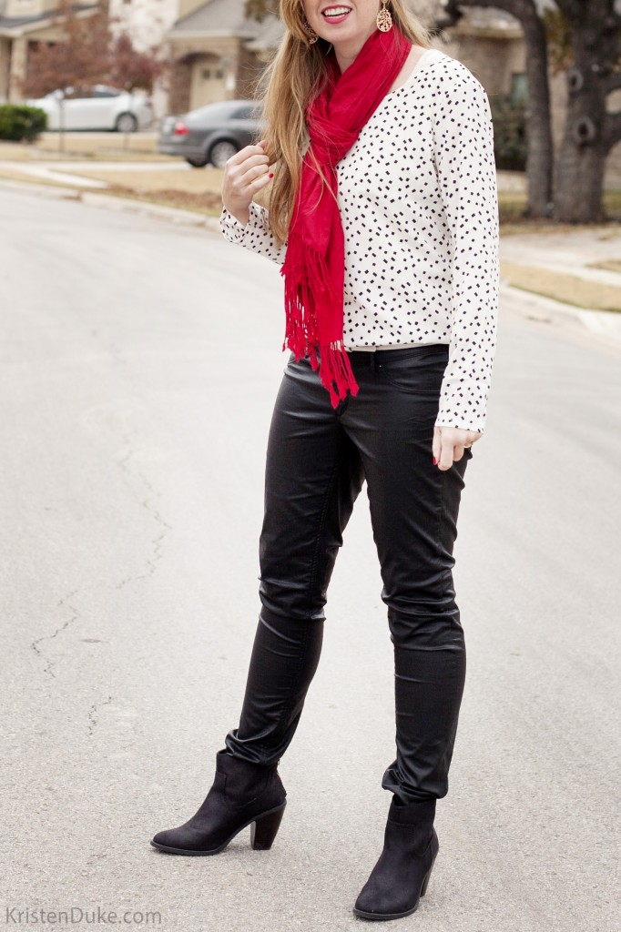 Fashion style Wear to what with black leather boots for lady