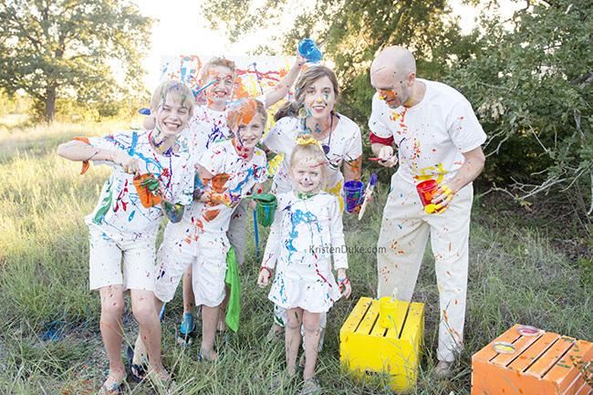 dumping paint