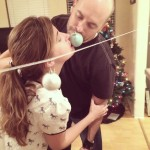 Minute to Win It Kissing ornament game