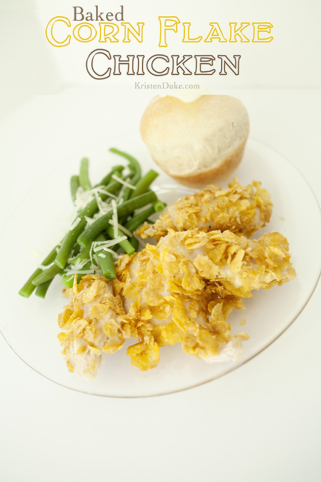 Baked Corn Flake Chicken