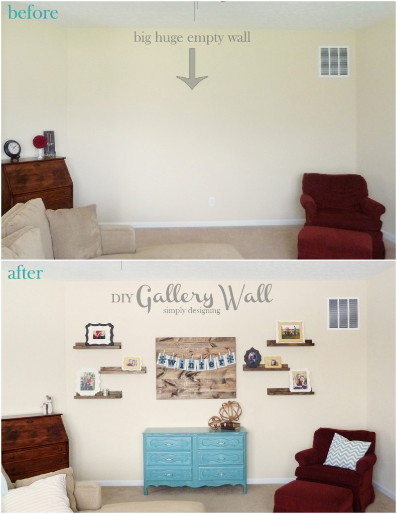 Before and After Gallery Wall