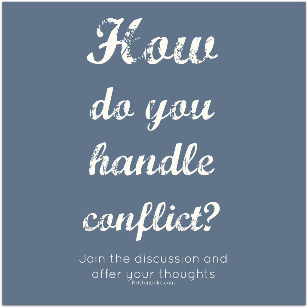How do you handle conflict, join the discussion by clicking on this image