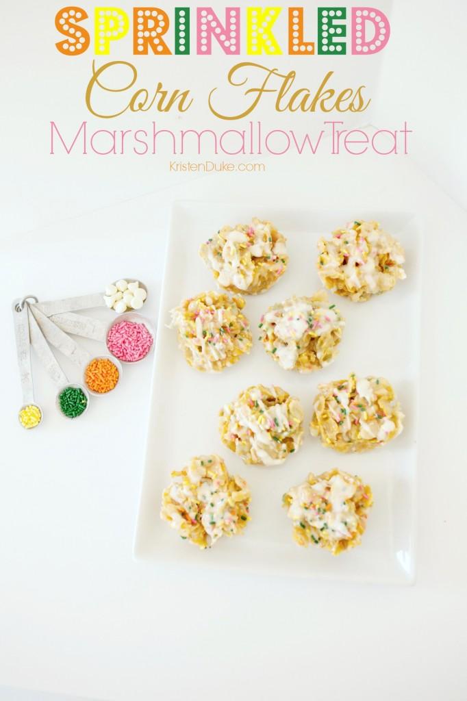 Sprinkled Corn Flakes Marshmallow Treat