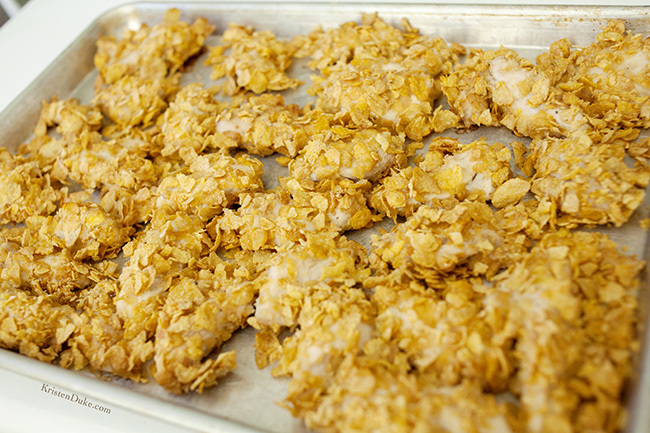 baked chicken with corn flakes