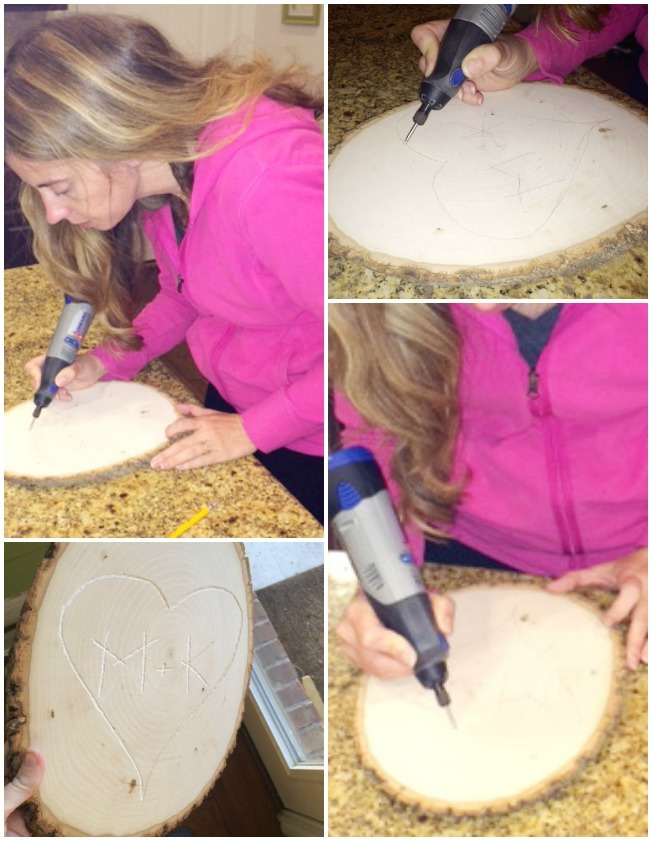 carving a heart