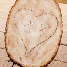 heart carved tree stump