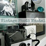 DIY Vintage Photo Mantel on Mad in Crafts_thumb[4]