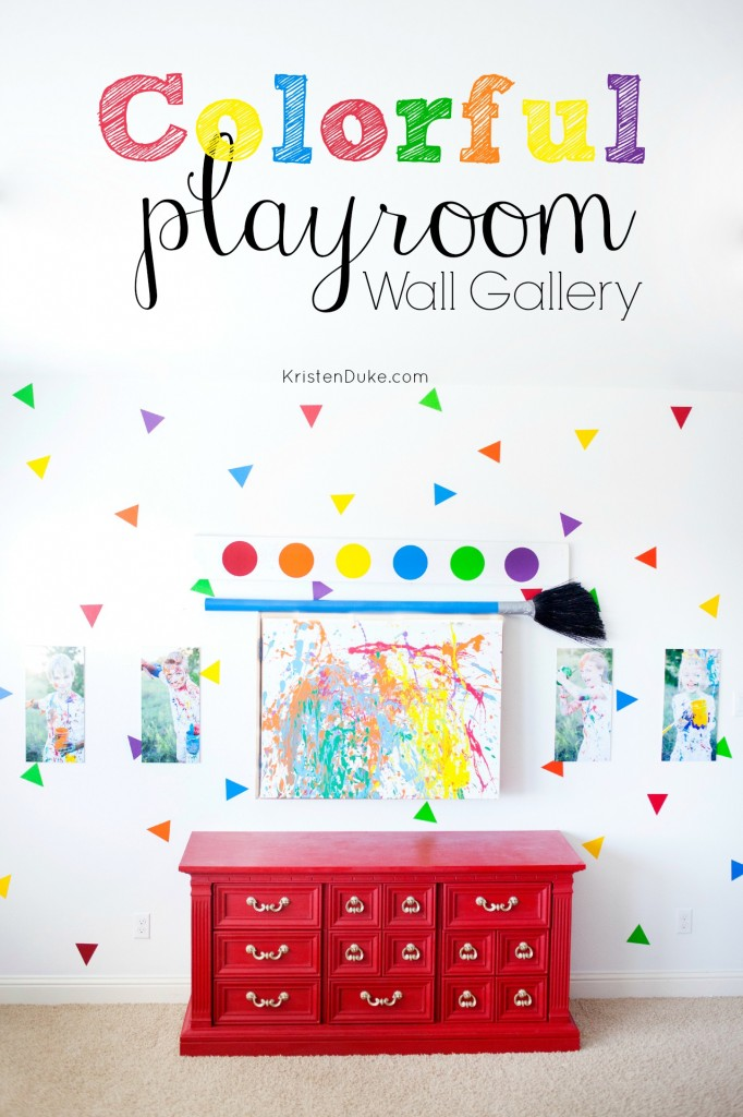 colorful playroom pictures gallery wall