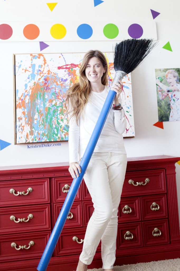 how to make your own giant paint brush