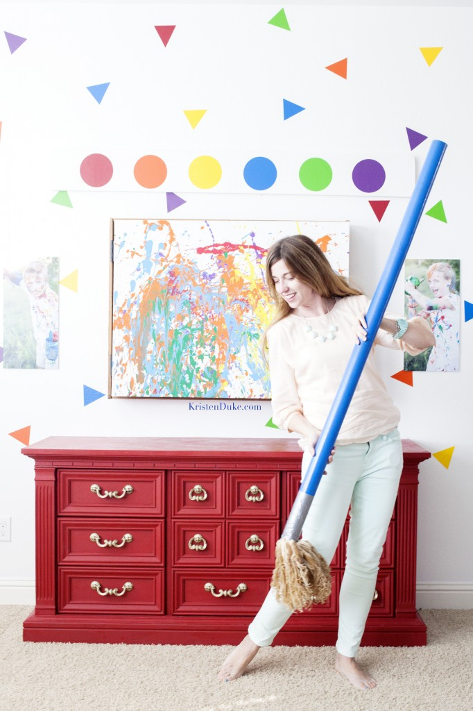 mopping with failed paint brush