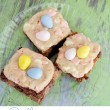 Cadbury Mini Egg Cookie Dough Brownie