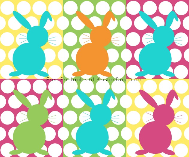 easter bunny printables at kristendukecom
