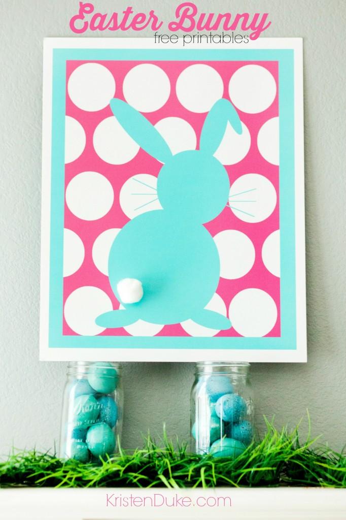 Easter Bunny mantle at KristenDuke.com