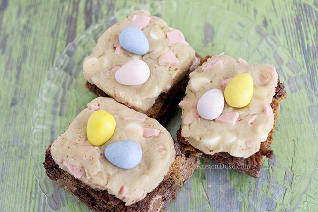 Easter cookie dough brownie