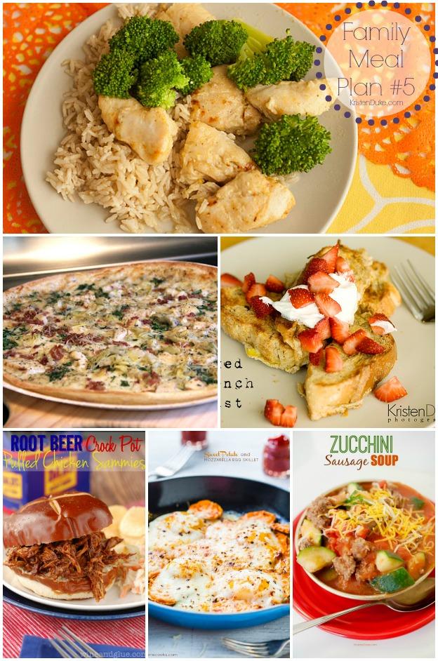 Family Meal Plan #5 by KristenDuke.com