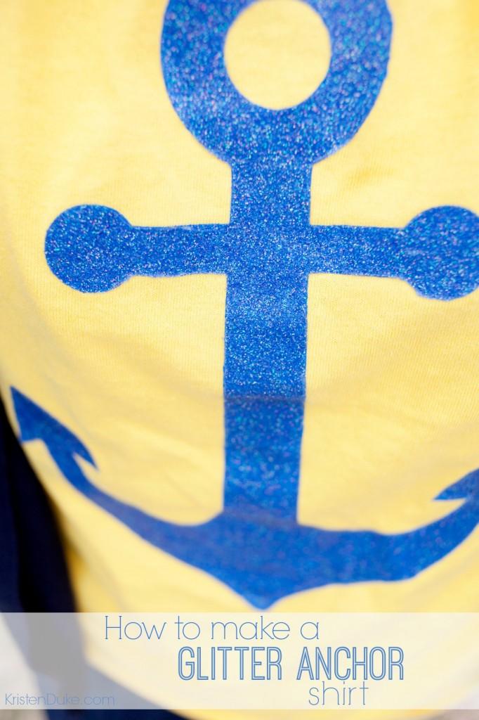 glitter anchor shirt