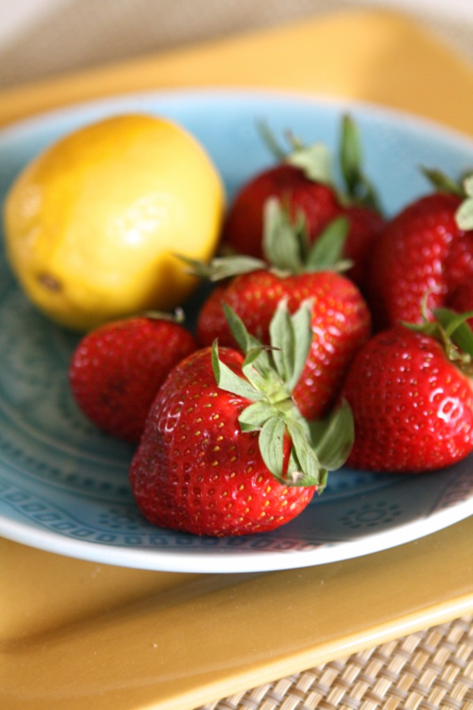Strawberries and Lemon Print
