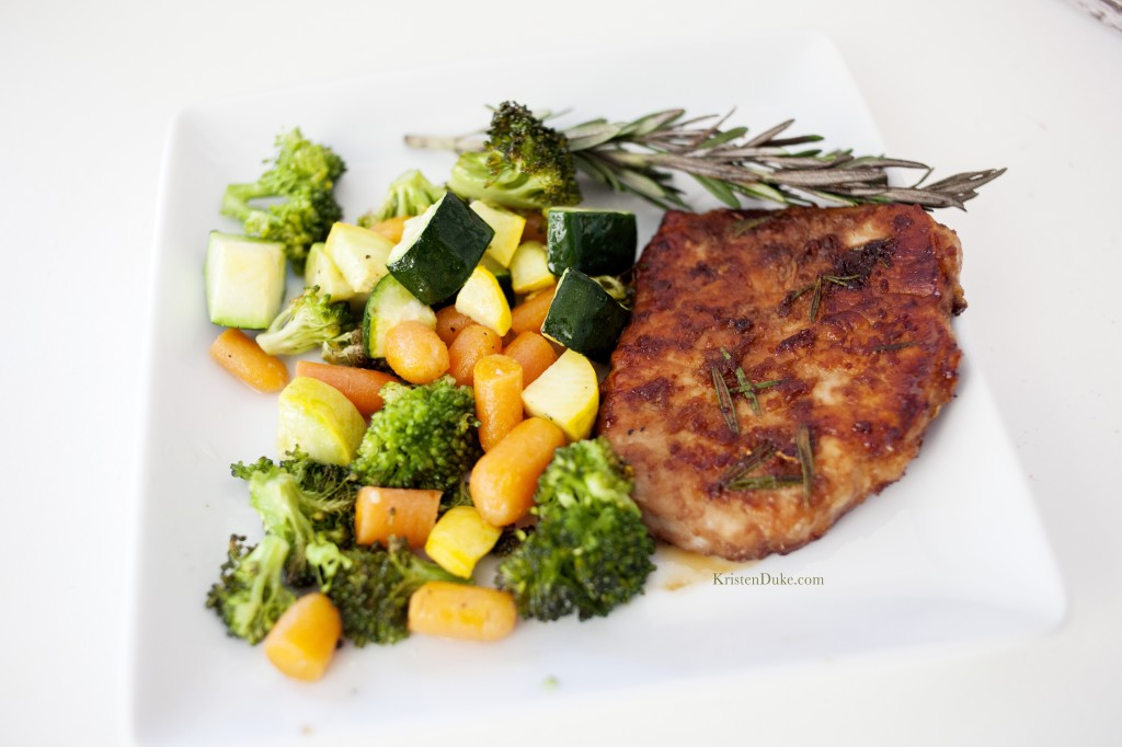 Pork Chops and Vegetables