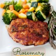 Rosemary Ginger Pork Chops