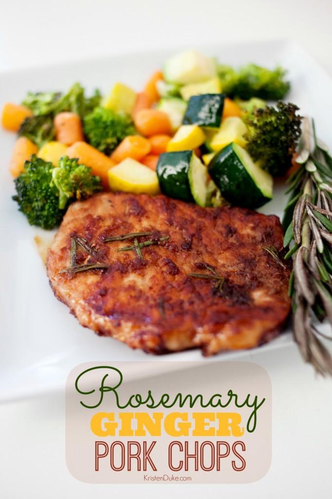 Rosemary Ginger Pork Chops